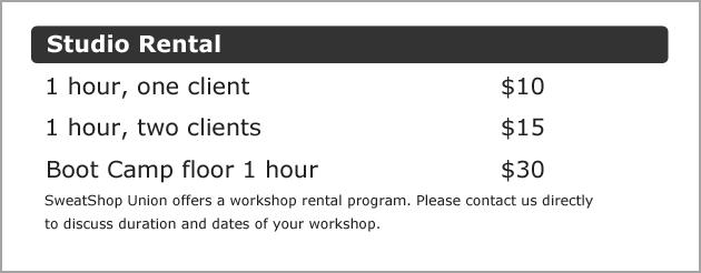 Oakville personal training Studio for rent