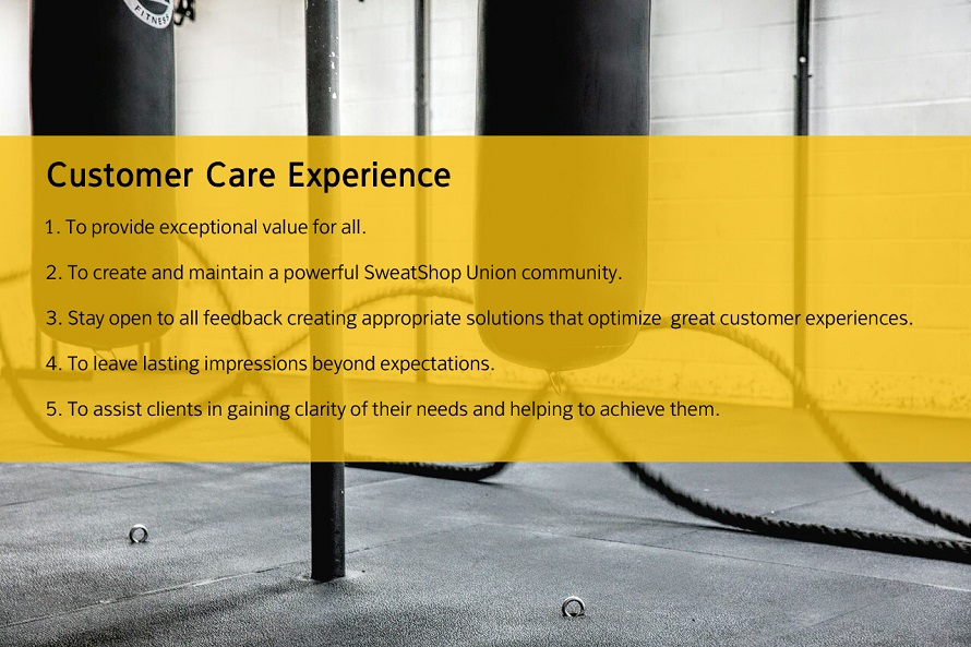 Personal Training Customer Care Experience